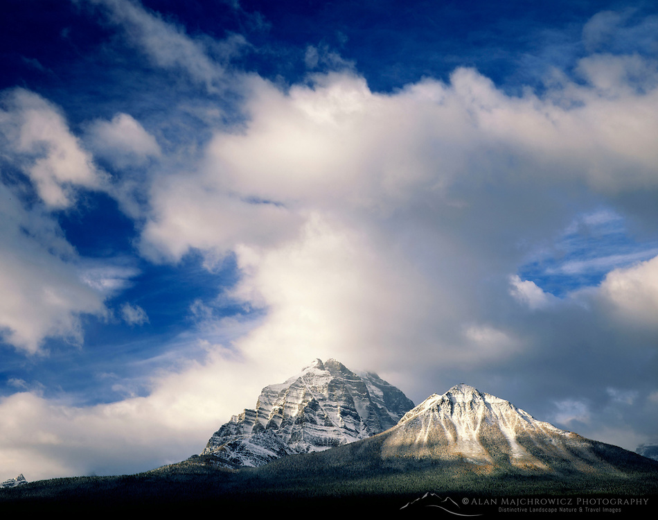 Clearing autumn storm over Temple Mountain, Banff National Park Alberta Canada