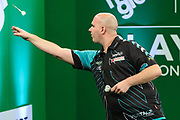 Rob Cross during the PDC Darts Players Championship at  at Butlins Minehead, Minehead, United Kingdom on 26 November 2017. Photo by Shane Healey.