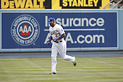 LOS ANGELES, CA - JULY 18:  Matt Kemp #27 of the Los Angeles Dodgers jogs before the game against the Philadelphia Phillies on Wednesday, July 18, 2012 at Dodger Stadium in Los Angeles, California. The Dodgers won the game 5-3 in 12 innings. (Photo by Paul Spinelli/MLB Photos via Getty Images) *** Local Caption *** Matt Kemp