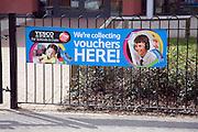 Tesco school vouchers collection point banner