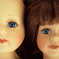 Two doll heads