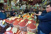 "Istanbul. At the Egyptian Bazar (""Spice Bazar""). Oriental spices."