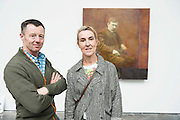 Celebrated Irish artist Hughie O' Donoghue  exhibition One Hundred Years and Four Quarters a new work commissioned by Galway International Arts Festival (GIAF) . The exhibition will run for the duration of the GIAF  from the 11-24 July in the Festival Gallery, Market Street, Galway. See giaf.ie <br /> <br /> At the opening were MacCon Keane and Sibley Curley Barna Photo: Andrew Downes, Xposure.