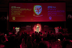 CARDIFF, WALES - Monday, October 5, 2015: Sophie Evans performs during the FAW Awards Dinner at Cardiff City Hall. (Pic by David Rawcliffe/Propaganda)