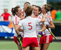 BREDA (Neth.)  England has scored during the match  New Zealand vs England U21 women . Volvo Invitational Tournament U21. COPYRIGHT KOEN SUYK