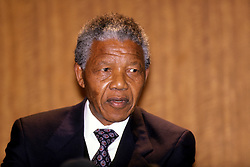 Deputy President of the African National Congress (ANC) Nelson Mandela during a conference in London today