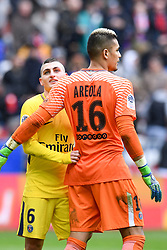 March 18, 2018 - Nice, France - 16 ALPHONSE AREOLA (PSG) - 06 MARCO VERRATTI (PSG) - JOIE (Credit Image: © Panoramic via ZUMA Press)