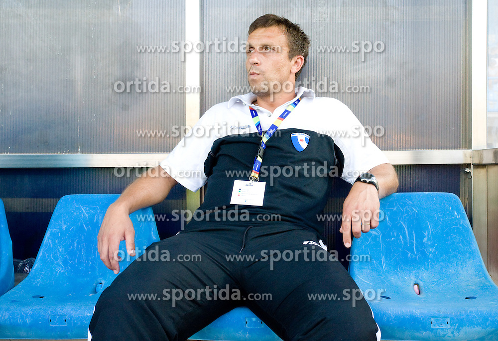 Coach of Gorica Miran Srebrnic at 1st football match of 2nd preliminary Round of UEFA Europe League between ND Gorica and FC Lahti, on July 16 2009, in Nova Gorica, Slovenia. (Photo by Vid Ponikvar / Sportida)