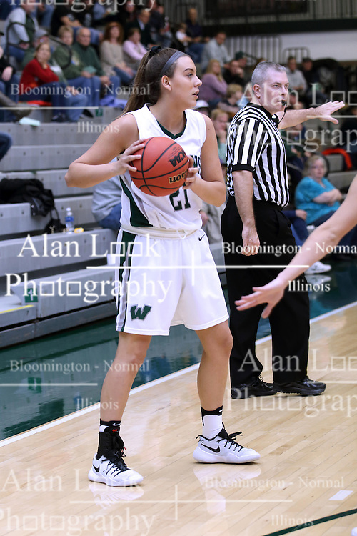 07 January 2017:  Nina Anderson during an Wheaton Thunder and the Illinois Wesleyan Titans in Shirk Center, Bloomington IL