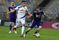 Dario Vizinger of Celje and Dino Hotić of Maribor in action during football match between NK Maribor and NK Celje in Round #24 of Prva liga Telekom Slovenije 2018/19, on March 30, 2019 in stadium Ljudski vrt, Maribor, Slovenia. Photo by Milos Vujinovic / Sportida