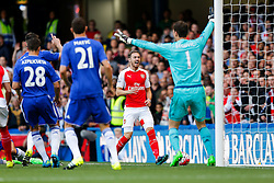 Aaron Ramsey of Arsenal shouts out after taking the ball out of play - Mandatory byline: Rogan Thomson/JMP - 07966 386802 - 19/09/2015 - FOOTBALL - Stamford Bridge Stadium - London, England - Chelsea v Arsenal - Barclays Premier League.