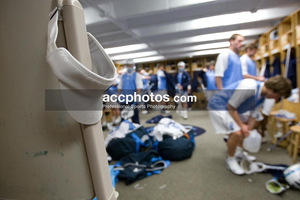 05 April 2008: North Carolina Tar Heels men's lacrosse on game day versus the Virginia Cavaliers in Chapel Hill, NC.