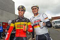 Greipel Andre / Debusschere Jens - Lotto Soudal - 31.03.2015 - Trois jours de La Panne - Etape 01 - De Panne / Zottegem <br /> Photo : Sirotti / Icon Sport<br /> <br />   *** Local Caption ***