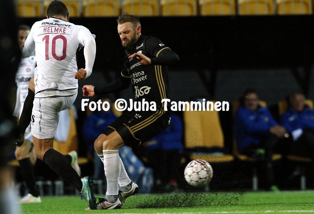 5.4.2017, OmaSP Stadion, Sein&auml;joki.<br /> Veikkausliiga 2017.<br /> Sein&auml;joen Jalkapallokerho - FC Lahti.<br /> Richard Dorman - SJK