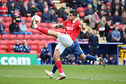 Charlton Athletic defender, Jorge Teixeira (50) clearing the ball during the Sky Bet Championship match between Charlton Athletic and Birmingham City at The Valley, London, England on 2 April 2016. Photo by Matthew Redman.
