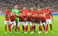 Mannschaft FC Bayern Muenchen<br /> hinten v.l. David Alaba, Torwart Manuel Neuer, Javier ''Javi'' Martinez, Xabi Alonso, Thomas Mueller, Jerome Boateng lagbilde<br /> Muenchen, 12.04.2017, Fussball, Champions League, Viertelfinale Hinspiel, FC Bayern München - Real Madrid<br /> <br /> Norway only