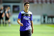 Lloyd James (4) of Exeter City warming up before the EFL Sky Bet League 2 match between Exeter City and Cambridge United at St James' Park, Exeter, England on 5 August 2017. Photo by Graham Hunt.