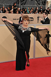 Lin Tucci arrives at the 24th annual Screen Actors Guild Awards at The Shrine Exposition Center on January 21, 2018 in Los Angeles, California. <br />
