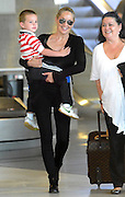28.JUNE.2012. PARIS<br /> <br /> SHARON STONE ARRIVING AT PARIS AIRPORT WITH HER SON QUINN. <br /> <br /> BYLINE: EDBIMAGEARCHIVE.COM<br /> <br /> *THIS IMAGE IS STRICTLY FOR UK NEWSPAPERS AND MAGAZINES ONLY*<br /> *FOR WORLD WIDE SALES AND WEB USE PLEASE CONTACT EDBIMAGEARCHIVE - 0208 954 5968*