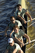 London, GREAT BRITAIN, Elite M4+ Cambridge University BC, stroke Thorsten ENGLEMANN, 3. Sebastain SCHULTE, 2. Kieran WEST and 2007 CUBC President Tom JAMES, pass under Chiswick Bridge as they approach the start, to take part in the, 2006 Fours Head of the River Race. Sat. 18.11. 2006. Chiswick, West London.  [Photo, Peter Spurrier/Intersport-images]. Rowing Course: River Thames, Championship course, Putney to Mortlake 4.25 Miles