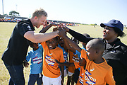 EAST LONDON , SOUTH AFRICA - Wednesday 26 April 2017,  during the SA Rugby 'Boks for Books' and 'Get into Rugby' festival in Mdantsane, East London. Springbok rugby players, Kyle Brown, Juan De Jongh, Scarra Ntubeni, Damien De Allende and Jesse Kriel participated and interacted with the children.<br /> Photo by Roger Sedres/SA Rugby