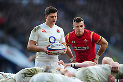 Ben Youngs of England looks to put the ball into a scrum - Mandatory byline: Patrick Khachfe/JMP - 07966 386802 - 12/03/2016 - RUGBY UNION - Twickenham Stadium - London, England - England v Wales - RBS Six Nations.