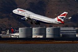 Boeing 747-436 (G-CIVG) operated by British Airways departing San Francisco International Airport (KSFO), San Francisco, California, United States of America