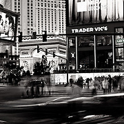 A long exposure of a crosswalk on Las Vegas Boulevard in Las Vegas, Nevada, USA on 20 February 2009.
