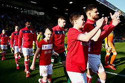 Bailey Wright of Bristol City leads Bristol City onto the pitch - Mandatory by-line: Phil Chaplin/JMP - FOOTBALL - Carrow Road - Norwich, England - Norwich City v Bristol City - Sky Bet Championship