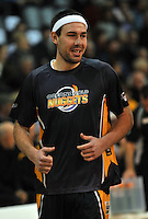 Matt Trueman warms up, prior to the NBL match, between the Otago Nuggets and Hawkes Bay, Lion Foundation Arena, Edgar Centre, Dunedin, Otago, New Zealand, Friday, May 24, 2013. Credit: Joe Allison / Allison Images.