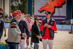 Verlooy Jos, BEL, Weinberg Peter, GER<br /> Rotterdam - Europameisterschaft Dressur, Springen und Para-Dressur 2019<br /> Parcoursbesichtigung<br /> Longines FEI Jumping European Championship - 1st part - speed competition against the clock<br /> 1. Runde Zeitspringen<br /> 21. August 2019<br /> © www.sportfotos-lafrentz.de/Dirk Caremans