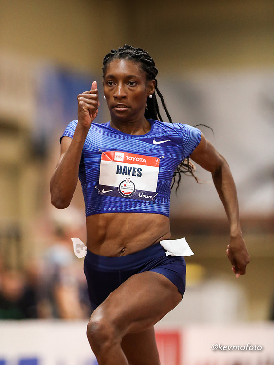 2020 USATF Indoor Championship<br /> Albuquerque, NM 2020-02-14<br /> photo credit: © 2020 Kevin Morris<br /> womens 400m heats, Nike
