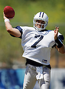 OXNARD, CA - AUGUST 8:  Quarterback Drew Henson #7 of the Dallas Cowboys unloads a pass during the Dallas Cowboys training camp on August 8, 2006 in Oxnard, California. ©Paul Anthony Spinelli *** Local Caption *** Drew Henson