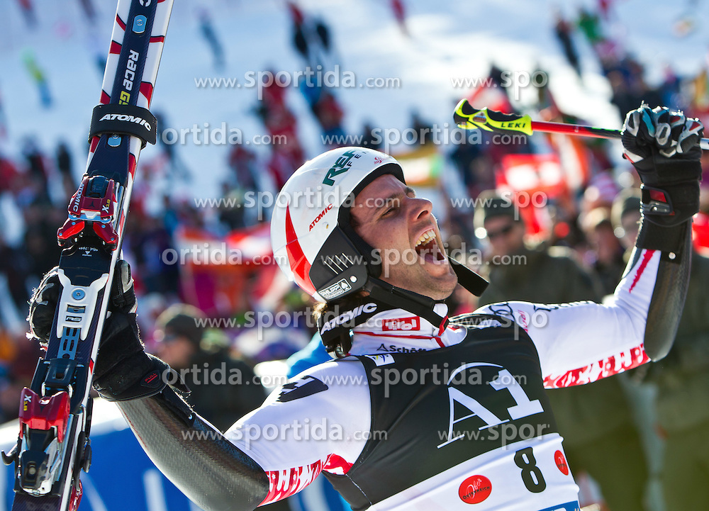 06.02.2011, Hannes-Trinkl-Strecke, Hinterstoder, AUT, FIS World Cup Ski Alpin, Men, Hinterstoder, Riesentorlauf, im Bild Sieger Philipp Schoerghofer (AUT) // Philipp Schoerghofer (AUT) Winnerduring FIS World Cup Ski Alpin, Men, Giant Slalom in Hinterstoder, Austria, February 06, 2011, EXPA Pictures © 2011, PhotoCredit: EXPA/ J. Feichter