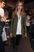 CARA DELEVIGNE, The Vogue Festival 2012 in association with Vertu- cocktail party. Royal Geographical Society. Kensington Gore. London. SW7. 20 April 2012.