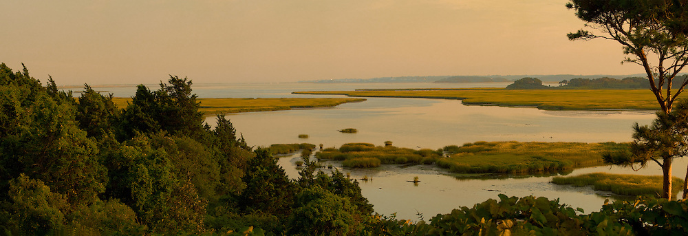 The view looking south from Pochet Island toward Chatham.