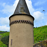 Vianden Castle&rsquo;s Black Tower in Vianden, Luxembourg <br />