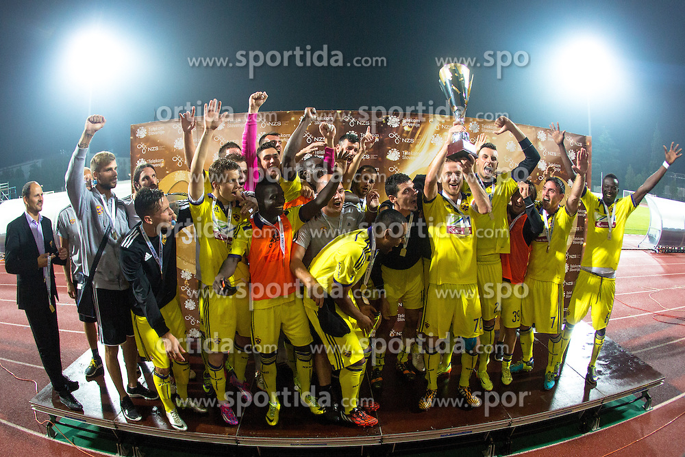 NK Maribor winners during football match between ND Gorica and NK Maribor at NZS Super Cup of Liga Telekom Slovenije 2014/15, on August 13, 2014 in Sportni Park Nova Gorica, Nova Gorica, Slovenia. Photo by Urban Urbanc / Sportida.com