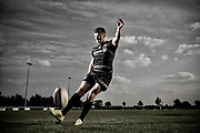 Owen Farrell cover shoot for Rugby World Magazine.