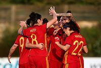 International Women's Friendly Matchs 2019 / <br /> Womens's Algarve Cup Tournament 2019 - <br /> Spain v Netherlands 2-0 ( Municipal Da Bela Vista Stadium- Parchal,Portugal ) - <br /> Jennifer Hermoso of Spain (10) ,celebrates after is goal (1-0) with team mates
