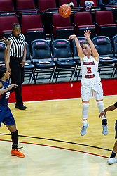 NORMAL, IL - November 30: Mary Crompton shoots an undefended 3 pointer during a college women's basketball game between the ISU Redbirds and the Skyhawks of UT-Martin November 30 2019 at Redbird Arena in Normal, IL. (Photo by Alan Look)