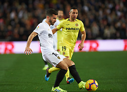 January 26, 2019 - Valencia, Valencia, Spain - Jose Luis Gaya of Valencia CF during the La Liga Santander match between Valencia and Villarreal at Mestalla Stadium on Jenuary 26, 2019 in Valencia, Spain. (Credit Image: © AFP7 via ZUMA Wire)