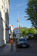 Cityscape of Berlin, Germany. Fernsehturm television tower in the background
