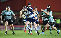 Bristol Rugby hooker, Ross McMillan in action during the Greene King IPA Championship match between Bristol Rugby and Nottingham at Ashton Gate on March 6, 2015 in Bristol, England - Photo mandatory by-line: Paul Knight/JMP - Mobile: 07966 386802 - 06/03/2015 - SPORT - Rugby - Bristol - Ashton Gate Stadium - Bristol Rugby v Nottingham - Greene King IPA Championship