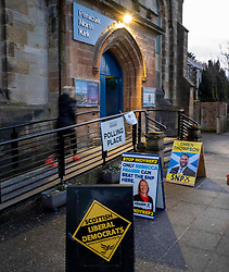 Voters in Penicuik, Midlothian (eight miles outside Edinburgh) awoke to an icy morning as they took care on the way to their polling station. All sorts of venues are called up to act as a location for electors to exercise their constitutional rights.