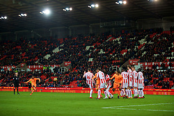 STOKE-ON-TRENT, ENGLAND - Wednesday, November 29, 2017: Liverpool's Georginio Wijnaldum takes a free-kick during the FA Premier League match between Stoke City and Liverpool at the  Bet365 Stadium. (Pic by David Rawcliffe/Propaganda)