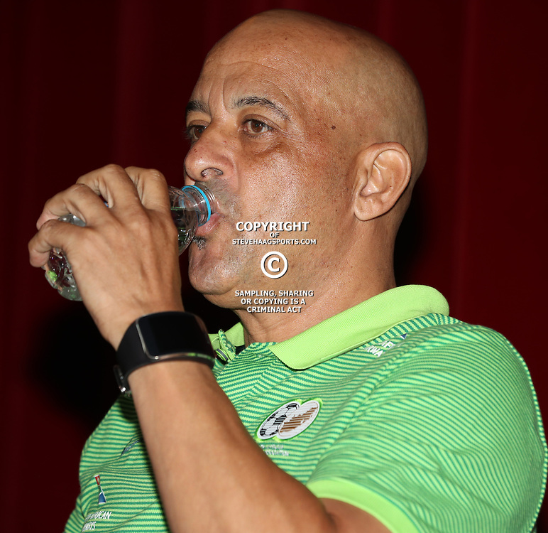 Owen Da Gama (Head Coach) of Bafana Bafana South Africa during the Bafana Bafana South Africa Press Conference at Maharani Hotel in Durban in Durban, South Africa. 23 March 2017 (Photo by Steve Haag)
