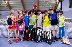 "Fan tennis event for kids named ""Play tennis"" by Tenis Slovenija, on May 20, 2017 in BTC - Millenium centre Ljubljana, Slovenia. Photo by Vid Ponikvar / Sportida"