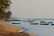 Phu Quoc Island. Fishing boats in a village on Long Beach (Bai Truong).