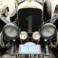 A 1927 Bentley 4 1/2 VDP Tourer sits in the parking lot at the Tupelo Automobile Museum upon its arrivial from Memphis on Friday morning. The owner's, Bill and Julie Holroyd, from Great Britain are part of 39 cars taking part in The Endurance Rally Association's , The Trans America Challenge 2018. The rally started on May 27 in Charleston South Carolina and will end in Seattle on Sunday June 17. The drivers stopped in Tupelo for lunch, rest and a quick tour of the Tupelo Automobile Museum.